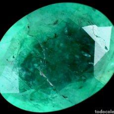 Colecionismo de pedras preciosas: NATURAL ESMERALDA COLOMBIANA DE 5.20 QUILATES CERTIFICADA. Lote 266166048