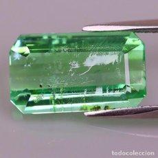 Coleccionismo de gemas: PARAIBA TURMALINA 4.64 CT, NEÓN VERDE AZULADO. Lote 266755848