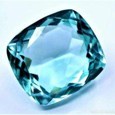 Coleccionismo de gemas: AGUAMARINA CUADRADA 22.40.CT + CERTIFICADO AGSL- TRASLUCIDA 18.42 X 16.59 X 10.60 (MM). Lote 268965914