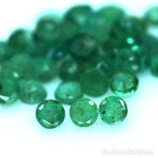 Coleccionismo de gemas: ESMERALDAS NATURALES REDONDAS 2,50 MM.. Lote 269321263