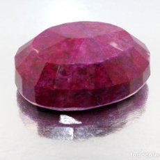 Coleccionismo de gemas: GRANDE RUBÍ CON CERTIFICADO DE AUTENTICIDAD EGL - 53 × 38 × 23MM - PESO: 409.5 QUILATES - 81.9 GR. Lote 270227513