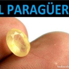 Coleccionismo de gemas: ZAFIRO OVAL AMARILLO DE 2,35 KILATES CON CERTIFICADO - MEDIDA 0,8 X 0,6 X 0,3 CENTIMETROS- W7. Lote 270980593