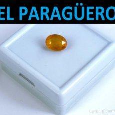 Coleccionismo de gemas: ZAFIRO OVAL AMARILLO DE 3,90 KILATES CON CERTIFICADO - MEDIDA 1,0 X 0,7 X 0,4 CENTIMETROS- W7. Lote 270981558