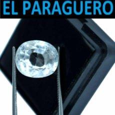 Coleccionismo de gemas: ZAFIRO OVAL BLANCO DE 8 KILATES CON CERTIFICADO - MEDIDA 1,1 X 1,0 X 0,7 CENTIMETROS- W8. Lote 270982603