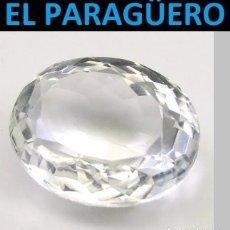 Coleccionismo de gemas: ZAFIRO OVAL BLANCO DE 5,10 KILATES CON CERTIFICADO - MEDIDA 1,0 X 0,8 X 0,5 CENTIMETROS- W11. Lote 270983198