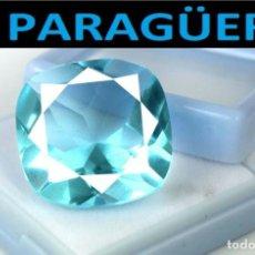 Coleccionismo de gemas: AGUAMARINA COJIN AZUL MAR DE 6,05 KILATES CON CERTIFICADO - MEDIDA 1,2 X 1,2 X 0,5 CENTIMETROS- W1. Lote 271137963