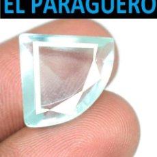 Coleccionismo de gemas: AGUAMARINA MUY RARA AZUL MAR DE 8 KILATES CON CERTIFICADO - MEDIDA 1,7X1,4 X 0,6 CENTIMETROS- W8. Lote 271362338