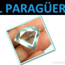 Coleccionismo de gemas: AGUAMARINA MUY RARA AZUL MAR DE 12,00 KILATES CON CERTIFICADO - MEDIDA 2,0X1,6 X 0,8 CENTIMETROS-W10. Lote 271365408