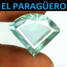 Coleccionismo de gemas: AGUAMARINA MUY RARA AZUL MAR DE 9,55 KILATES CON CERTIFICADO - MEDIDA 1,7X1,4 X 0,7 CENTIMETROS-W14. Lote 271368563
