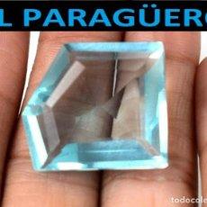 Coleccionismo de gemas: AGUAMARINA MUY RARA AZUL MAR DE 35,15 KILATES CON CERTIFICADO - MEDIDA 2,4X2,1 X 1,0 CENTIMETROS-W15. Lote 271371093