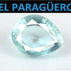 Coleccionismo de gemas: AGUAMARINA LAGRIMA AZUL MAR DE 7,45 KILATES CON CERTIFICADO - MEDIDA 1,4X1,1 X 0,7 CENTIMETROS-W17. Lote 271373203