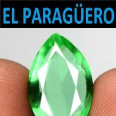 Coleccionismo de gemas: TURMALINA MAQUESA VERDE DE 5,20 KILATES CON CERTIFICADO - MEDIDA 1,6X0,9 X 0,5 CENTIMETROS-W2. Lote 271388043