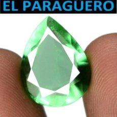 Coleccionismo de gemas: TURMALINA LAGRIMA VERDE DE 5,90 KILATES CON CERTIFICADO - MEDIDA 1,5X1,0 X 0,6 CENTIMETROS-W4. Lote 271392273