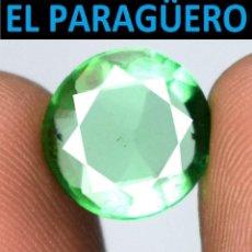 Coleccionismo de gemas: TURMALINA REDONDA VERDE DE 4,25 KILATES CON CERTIFICADO - MEDIDA 1,1X1,1 X 0,4 CENTIMETROS-W5. Lote 271394318
