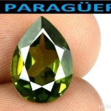 Coleccionismo de gemas: TURMALINA LAGRIMA VERDE DE 11,85 KILATES CON CERTIFICADO - MEDIDA 1,6X1,1 X 0,5 CENTIMETROS-W6. Lote 271396348