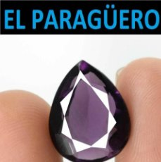Coleccionismo de gemas: TURMALINA LAGRIMA PURPURA DE 6,40 KILATES CON CERTIFICADO - MEDIDA 1,4X1,1 X 0,6 CENTIMETROS-W7. Lote 271399208