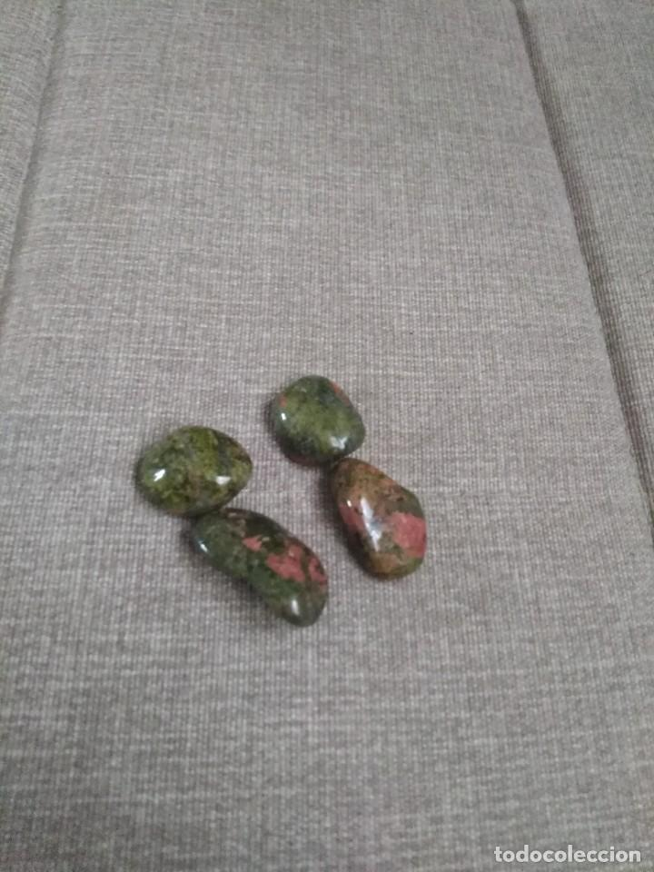 Coleccionismo de gemas: Lote de 4 Unakitas naturales - Foto 2 - 271696913