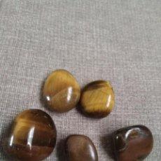 Coleccionismo de gemas: LOTE DE 5 AGATAS OJO DE TIGRE NATURALES. Lote 271702798