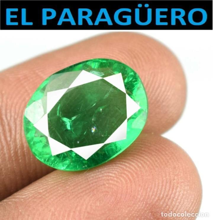 ESMERALDA DE 6,75 KILATES CON CERTIFICADO - MEDIDA 1,4X1,1 X 0,5 CENTIMETROS-W3 (Coleccionismo - Mineralogía - Gemas)