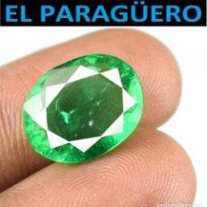 Coleccionismo de gemas: ESMERALDA DE 6,75 KILATES CON CERTIFICADO - MEDIDA 1,4X1,1 X 0,5 CENTIMETROS-W3. Lote 271705703