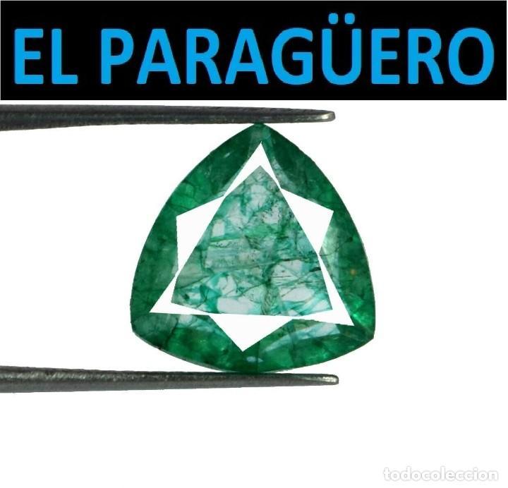 ESMERALDA DE 6,40 KILATES CON CERTIFICADO - MEDIDA 1,3X1,3 X 0,5 CENTIMETROS-W6 (Coleccionismo - Mineralogía - Gemas)