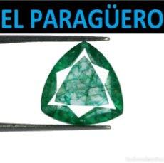 Coleccionismo de gemas: ESMERALDA DE 6,40 KILATES CON CERTIFICADO - MEDIDA 1,3X1,3 X 0,5 CENTIMETROS-W6. Lote 271710673