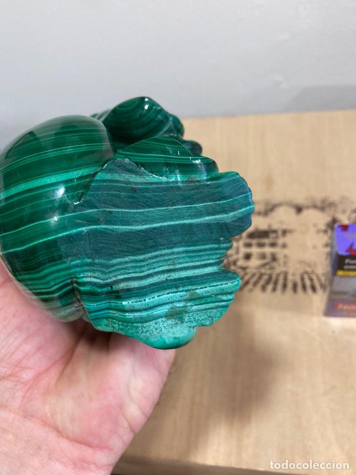 Coleccionismo de gemas: Magnifica figura de malaquita, budha, gran tamaño - Foto 6 - 271827658