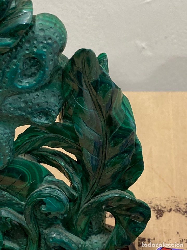 Coleccionismo de gemas: Magnifica figura de malaquita - Foto 10 - 271828043