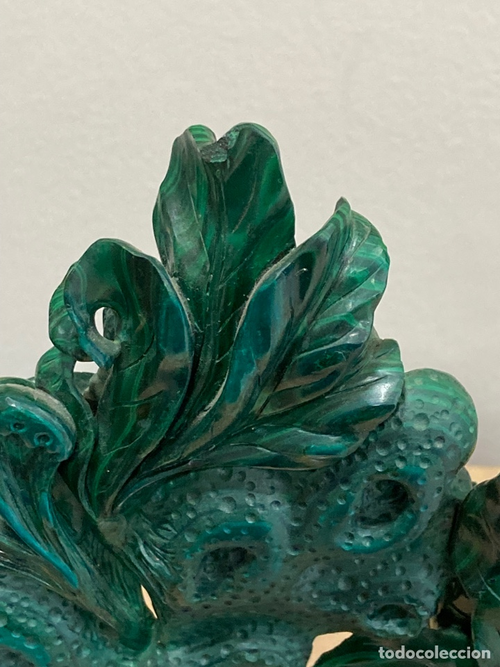 Coleccionismo de gemas: Magnifica figura de malaquita - Foto 11 - 271828043
