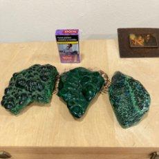 Coleccionismo de gemas: LOTE DE 3 PIEDRAS DE MALAQUITA. Lote 271829253