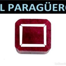 Coleccionismo de gemas: AUTENTICO BERILO OCTOGONAL ROJO 9,05 KILATES CON CERTIFICADO - MEDIDA 1,2X1,1X0,7 CENTIMETROS-W1. Lote 271893698