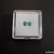 Collezionismo di gemme: 2 ESMERALDAS TALLA OVAL. MED. 6 X 4 MM. PESO 0,50 CTS. BRASIL. SIGLO XX. Lote 275759283