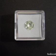 Coleccionismo de gemas: PERIDOTO RECONSTITUIDO TALLA OCTOGONAL. MEDIDA 9 X 9 MM. PESO 3,10 CTS. SUIZA. SIGLO XX. Lote 275776378