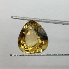 Coleccionismo de gemas: CITRINE NATURELLE DU BRÉSIL - POIRE 4.38 CTS - 11.7X10.7X6.8 MM. Lote 277414193