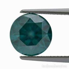 Coleccionismo de gemas: GIA LAB CERTIFY NATURAL VIVID GREENISH BLUE DIAMOND 4.01CT. Lote 278176763