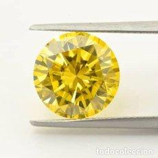 Coleccionismo de gemas: GIA LAB CERTIFY VIVID CANARY YELLOW DIAMOND 6.05CT. Lote 278179228