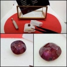Coleccionismo de gemas: RUBÍ SIN TRATAR MADAGASCAR OVAL 1.55 CT.. Lote 280114913