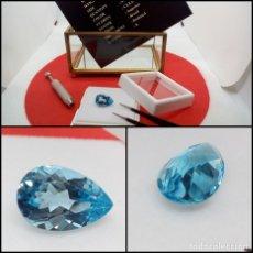 Coleccionismo de gemas: TOPACIO AZUL SUIZO LIMPIO TALLA PERA 7.21 CT.. Lote 280115578
