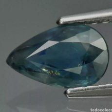 Coleccionismo de gemas: ZAFIRO 1.02CT 7.8X5MM PERA ZAFIRO AZUL VERDOSO NATURAL AUSTRALIA, SOLO CON CALEFACCIÓN. Lote 284118723