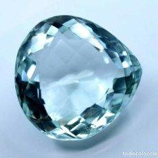 Colecionismo de pedras preciosas: AGUAMARINA 77.55.CT + CERTIFICADO AGSL- TRASLUCIDA 29.42 X 29.29 X 16.03 (MM). Lote 285468568