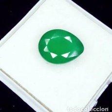 Coleccionismo de gemas: PRECIOSA ESMERALDA ZAMBIANA NATURAL TALLA DE PERA CON 3.07 CT. CERTIFICADA.. Lote 297165568