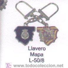 Coleccionismo de llaveros: L-50/8. LLAVERO MAPA Y ESCUDO DEL CNP. Lote 3414982