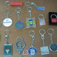 Coleccionismo de llaveros: LOTE DE 14 LLAVEROS DE DISTINTOS BANCOS Y CAJAS DE AHORROS. Lote 26856045