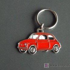 Coleccionismo de llaveros: LLAVERO FIAT 500 ROJO. Lote 174570463