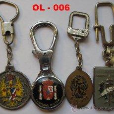Coleccionismo de llaveros: LOTE DE 4 LLAVEROS MILITARES DIVERSOS. ( USADOS ).. Lote 26526833