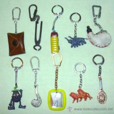 Coleccionismo de llaveros: LOTE DE 10 LLAVEROS ANTIGUOS VARIADOS (L5). Lote 27518393