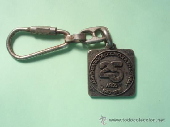 LLAVERO DEL 25 ANIVERSARIO DE LA COCA COLA (Coleccionismo - Llaveros)