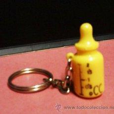 Coleccionismo de llaveros: LLAVERO - BIBERON - PARTE TRASERA PIPI - PLASTICO CEDENA METAL - AÑOS 80. Lote 28612661