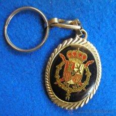 Coleccionismo de llaveros: LLAVERO CON ESCUDO DE ARMAS MILITAR DE LA CASA REAL ESPAÑOLA Y BUSTOS DE LOS REYES-DÉCADA DE LOS 80. Lote 109182839