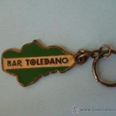 Coleccionismo de llaveros: LLAVERO - BAR-TOLEDANO - AÑOS 70. Lote 31343342